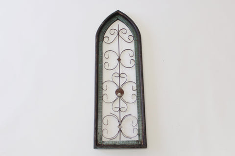 Shabby Chic Green Painted Church Window - Vintage Affairs - Vintage By Design LLC
