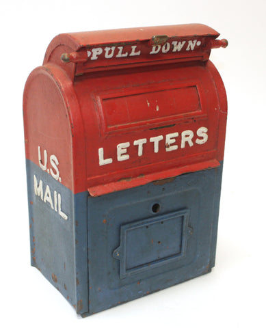 Metal Painted US Post Mailbox (#1041) - Vintage Affairs - Vintage By Design LLC