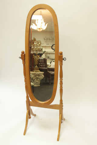 Traditional Oval Mirror & Stand - Vintage Affairs - Vintage By Design LLC