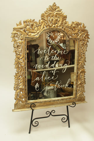 Large and Exceptionally Ornate Gilt Wood Mirror (#1090A) - Vintage Affairs - Vintage By Design LLC