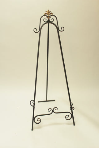 Large Brown Metal Easels (#1087) - Vintage Affairs - Vintage By Design LLC
