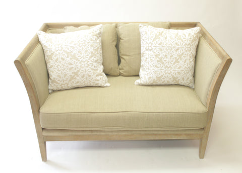 Beige Love Seat (#1145C) - Vintage Affairs - Vintage By Design LLC