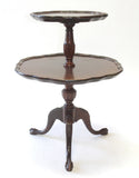 Chippendale Style Mahogany 2-Tiered Stand (#1169B) - Vintage Affairs - Vintage By Design LLC