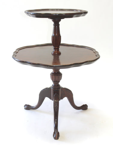 Chippendale Style Mahogany 2-Tiered Stand (#1169B)