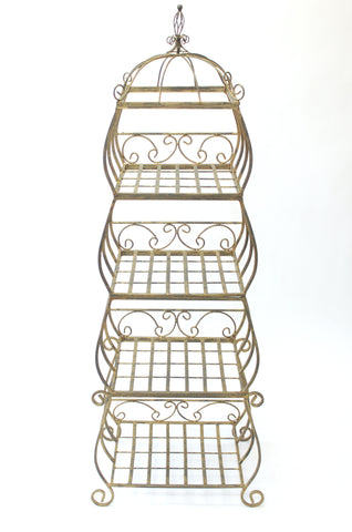 Ornate Bronze Display Stand (#1066A) - Vintage Affairs - Vintage By Design LLC