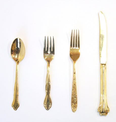Vintage Gold Plated Silverware - Vintage Affairs - Vintage By Design LLC