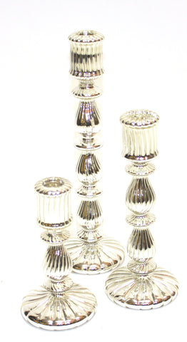 Tall Mercury Glass Candle Sticks - Vintage Affairs - Vintage By Design LLC