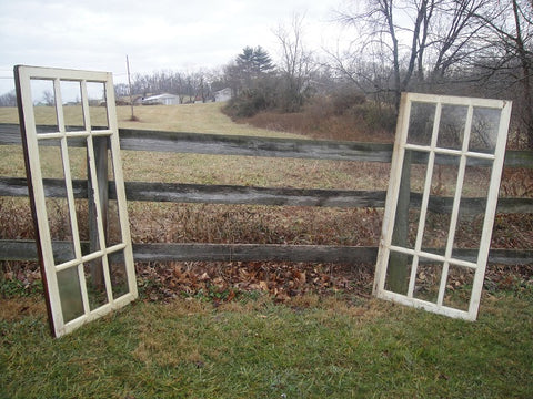 Large 9 Pane Wavy Glass Windows (#1322) - Vintage Affairs - Vintage By Design LLC