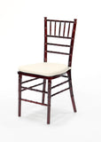 Fruitwood Chiavari Chairs w/ Ivory Cushion (#1010) - Vintage Affairs - Vintage By Design LLC