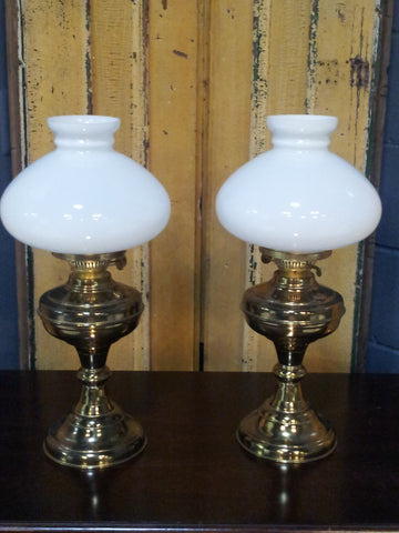 Pair of Brass Oil Lanterns - Vintage Affairs - Vintage By Design LLC