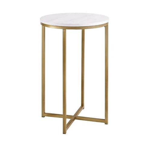 Silver Orchid Grant 16-inch Round Side Table - Vintage Affairs - Vintage By Design LLC