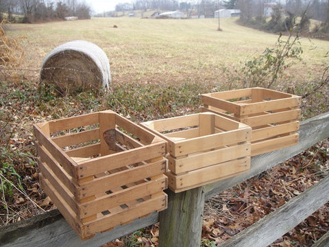 Small Produce Crates (#1050) - Vintage Affairs - Vintage By Design LLC
