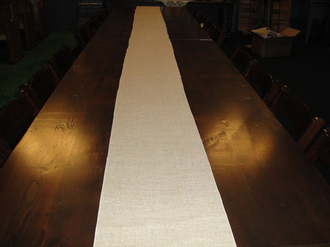 Burlap Table Runners (#1032) - Vintage Affairs - Vintage By Design LLC