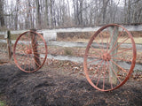 Red Iron Wagon Wheels (#1049)