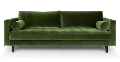 Sven Green Sofa - Vintage Affairs - Vintage By Design LLC