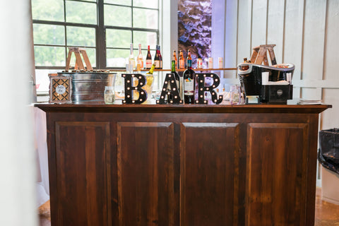 Barn Wood Bar (#1016) - Vintage Affairs - Vintage By Design LLC