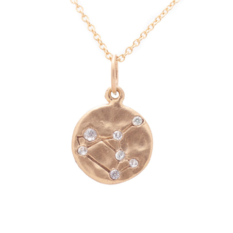 sagittarius zodiac necklace charm 14k gold diamonds horoscope jewelry gift for her valley rose