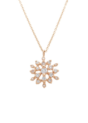 Gold & Diamond Star Cluster Necklace: Cosmos Necklace