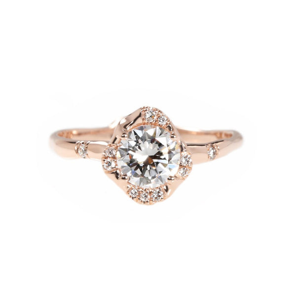 infinite love ring sirciam rose gold alternative engagement ring