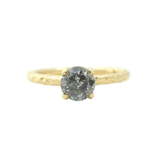 salt and pepper diamond solitaire alternative engagement ring anueva jewelry