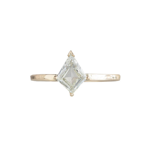 One of a Kind Kite-Shaped Step-Cut Diamond Engagement Ring by Alexis Russell