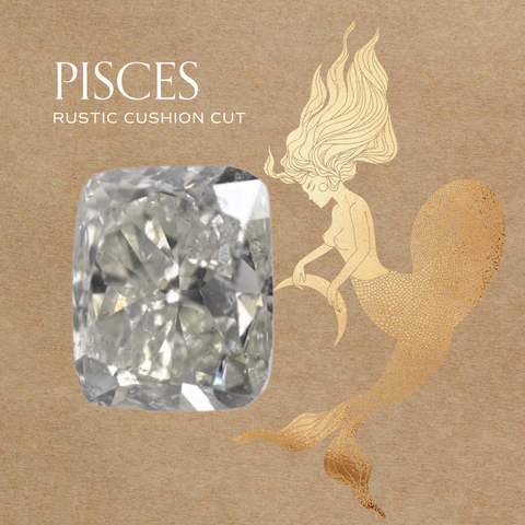 pisces zodiac diamond jewelry engagement ring ideas 14k gold fairmined conflict free cushion cut