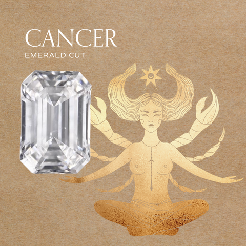 cancer zodiac diamond jewelry engagement ring ideas 14k gold fairmined conflict free emerald