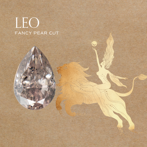 Leo zodiac diamond jewelry engagement ring ideas 14k gold fairmined conflict free pear pink