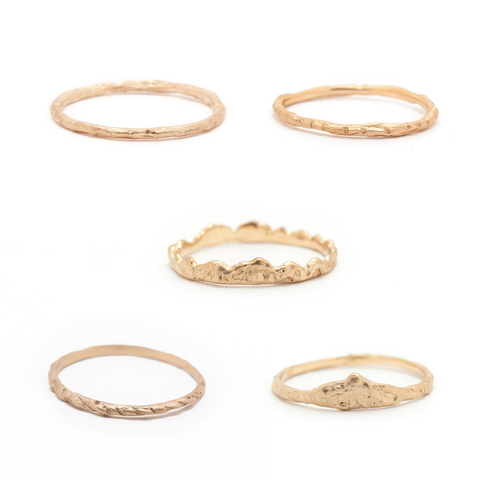 Guide to Ethical Wedding Bands plain nature bands