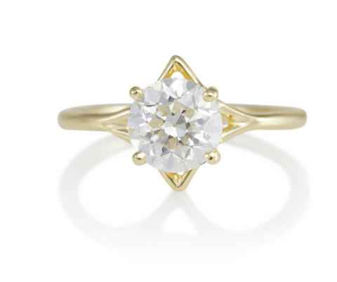 Top 10 Ethical Engagement Rings: The Best Alternative Conflict-Free Rings of 2021 Medium Celestial Ring by Luana Coonen