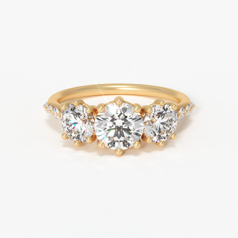 Custom & Sustainable Engagement Ring Builder valley rose latitude diamonds lab grown SCS fairmined gold