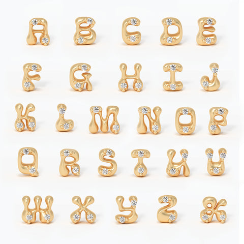 fairmined gold valley rose jewelry diamond necklace letter alphabet custom name charm