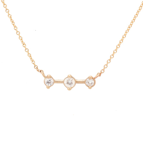 Orions belt constellation celestial star map necklace diamond gold