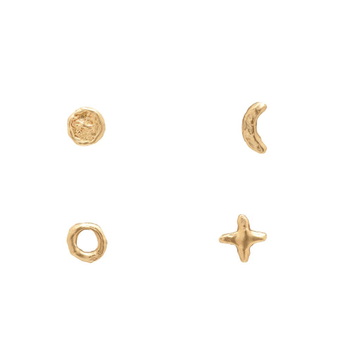 phases of the moon studs
