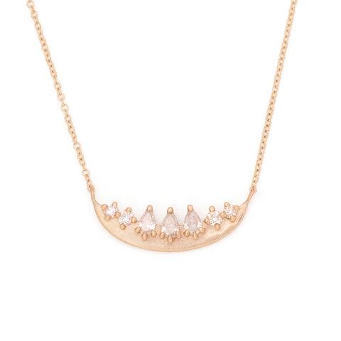 moon jewelry meaning 14k gold diamonds necklace luna valley rose ethical jewelry