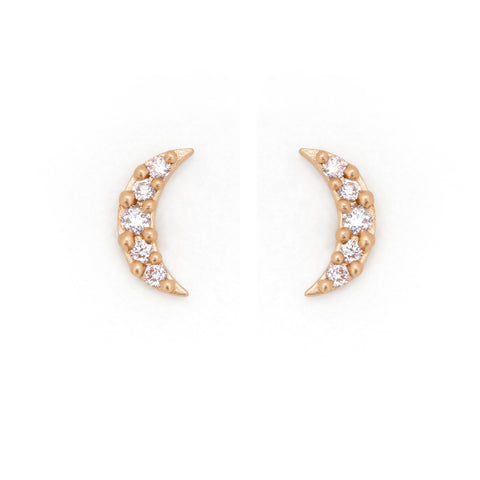 moon jewelry meaning 14k gold diamonds earrings luna valley rose ethical jewelry