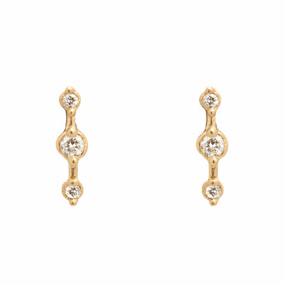 Orion Ear Climbers - Valley Rose Ethical Fine Jewelry 14K Fairmined Gold