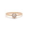 Grey Rosecut Diamond Solitaire - Valley Rose Ethical & Sustainable Fine Jewelry