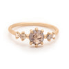 Grey Round Rose Cut Diamond 5 Stone Ring - Valley Rose Ethical & Sustainable Fine Jewelry