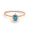 Ceto Solitaire, Teal Blue - Valley Rose Ethical & Sustainable Fine Jewelry