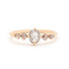 Grey Oval Rose Cut Diamond 7 Stone Ring - Valley Rose Ethical & Sustainable Fine Jewelry