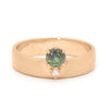 Adriatic Sapphire Cigar Band - Valley Rose Ethical & Sustainable Fine Jewelry