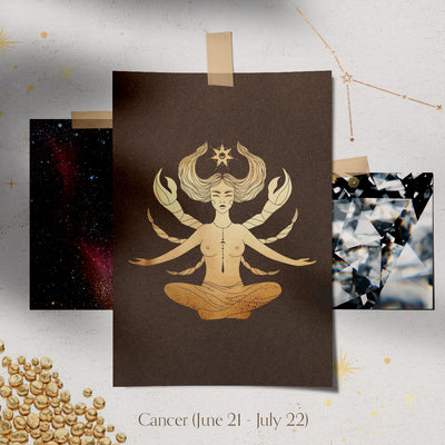 Cancer Constellation Charm & Necklace - Valley Rose Ethical & Sustainable Fine Jewelry