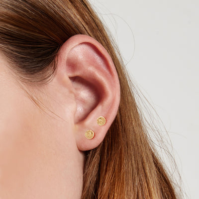 Phases of the Moon Studs - Valley Rose Ethical & Sustainable Fine Jewelry