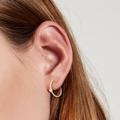 Large Étoile Hoops - Valley Rose Ethical & Sustainable Fine Jewelry