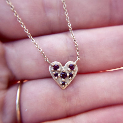 Ruby Heart Necklace - Valley Rose