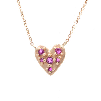 Ruby Heart Necklace - Valley Rose Ethical & Sustainable Fine Jewelry