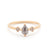 Grey Pear Diamond Three Stone Ring