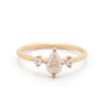 Pear Rosecut Diamond Three Stone Ring - Valley Rose Ethical & Sustainable Fine Jewelry