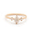 Pear Rosecut Diamond Three Stone Ring